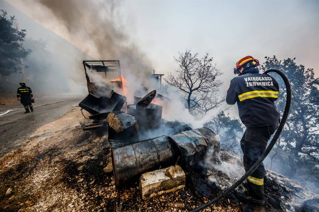 vatrena stihija požar Split