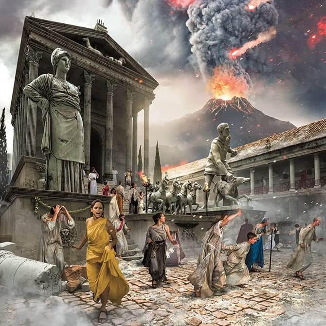 Pompeji erupcija vulkan